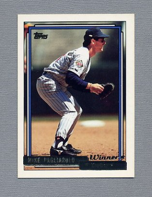1992 Topps Baseball Gold Winners #721 Mike Pagliarulo - Minnesota Twins