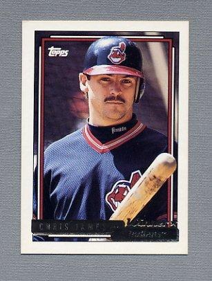 1992 Topps Baseball Gold Winners #709 Chris James - Cleveland Indians