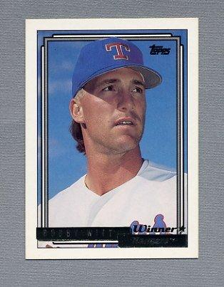 1992 Topps Baseball Gold Winners #675 Bobby Witt - Texas Rangers