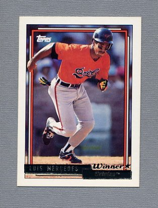 1992 Topps Baseball Gold Winners #603 Luis Mercedes - Baltimore Orioles