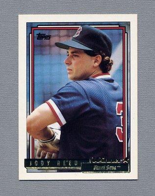 1992 Topps Baseball Gold Winners #598 Jody Reed - Boston Red Sox
