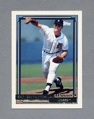 1992 Topps Baseball Gold Winners #508 Bill Gullickson - Detroit Tigers