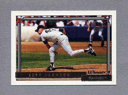 1992 Topps Baseball Gold Winners #449 Jeff Johnson - New York Yankees