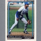1992 Topps Baseball Gold Winners #418 Alfredo Griffin - Los Angeles Dodgers