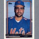 1992 Topps Baseball Gold Winners #382 Sid Fernandez - New York Mets