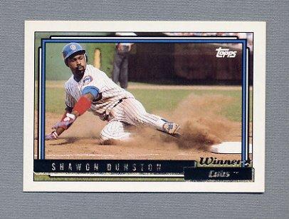 1992 Topps Baseball Gold Winners #370 Shawon Dunston - Chicago Cubs