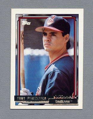 1992 Topps Baseball Gold Winners #366 Tony Perezchica - Cleveland Indians