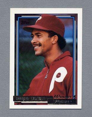1992 Topps Baseball Gold Winners #353 Braulio Castillo - Philadelphia Phillies
