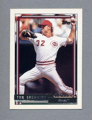1992 Topps Baseball Gold Winners #339 Tom Browning - Cincinnati Reds