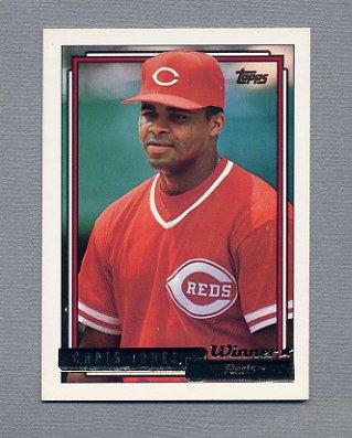 1992 Topps Baseball Gold Winners #332 Chris Jones - Cincinnati Reds