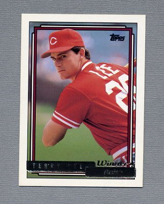 1992 Topps Baseball Gold Winners #262 Terry Lee - Cincinnati Reds