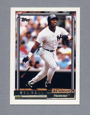 1992 Topps Baseball Gold Winners #223 Mel Hall - New York Yankees