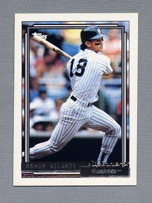 1992 Topps Baseball Gold Winners #212 Randy Velarde - New York Yankees
