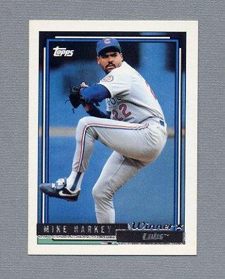 1992 Topps Baseball Gold Winners #098 Mike Harkey - Chicago Cubs