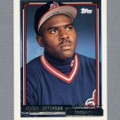 1992 Topps Baseball Gold Winners #093 Reggie Jefferson - Cleveland Indians