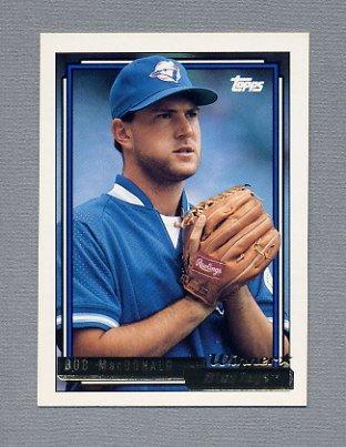 1992 Topps Baseball Gold Winners #087 Bob MacDonald - Toronto Blue Jays