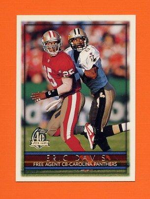 1996 Topps Football #354 Eric Davis - Carolina Panthers