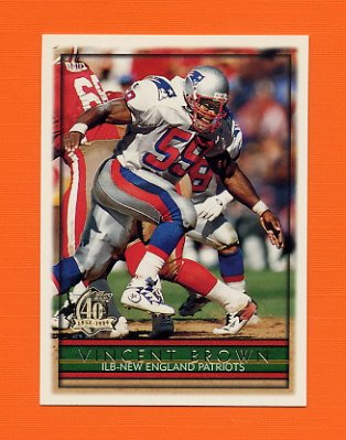 1996 Topps Football #311 Vincent Brown - New England Patriots