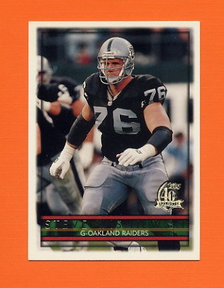 1996 Topps Football #301 Steve Wisniewski - Oakland Raiders