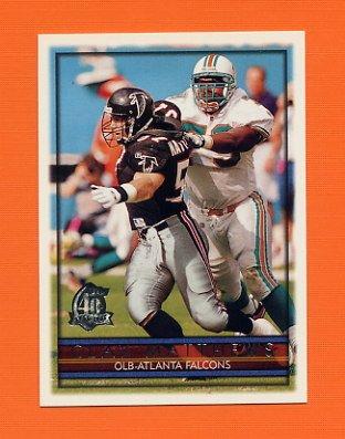 1996 Topps Football #297 Clay Matthews - Atlanta Falcons