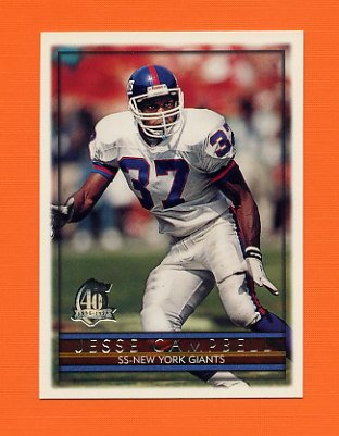 1996 Topps Football #236 Jesse Campbell - New York Giants