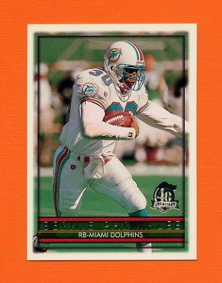 1996 Topps Football #182 Bernie Parmalee - Miami Dolphins