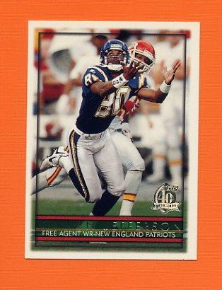 1996 Topps Football #152 Shawn Jefferson - New England Patriots