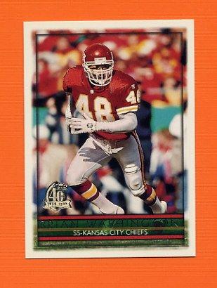 1996 Topps Football #137 Brian Washington - Kansas City Chiefs