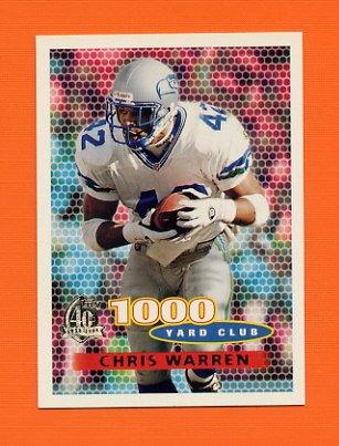 1996 Topps Football #124 Chris Warren TYC - Seattle Seahawks