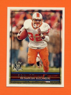 1996 Topps Football #090 Errict Rhett - Tampa Bay Buccaneers
