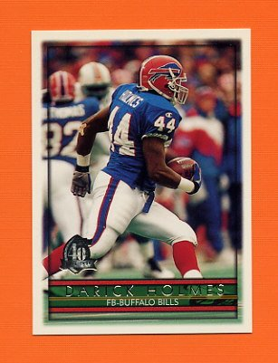1996 Topps Football #008 Darick Holmes - Buffalo Bills