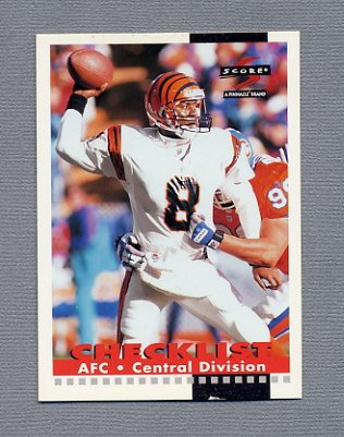 1996 Score Football #270 Jeff Blake CL - Cincinnati Bengals