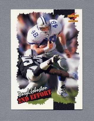 1996 Score Football #268 Daryl Johnston SE - Dallas Cowboys