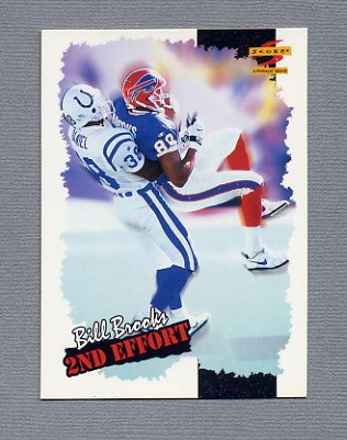 1996 Score Football #264 Bill Brooks SE - Buffalo Bills