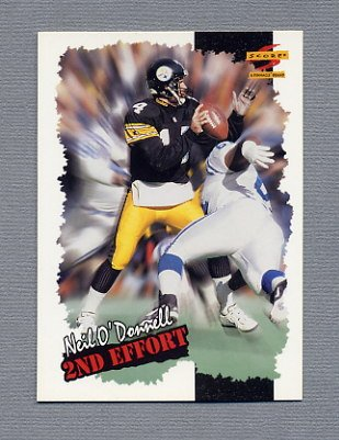 1996 Score Football #261 Neil O'Donnell SE - Pittsburgh Steelers