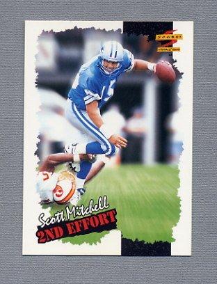 1996 Score Football #258 Scott Mitchell SE - Detroit Lions