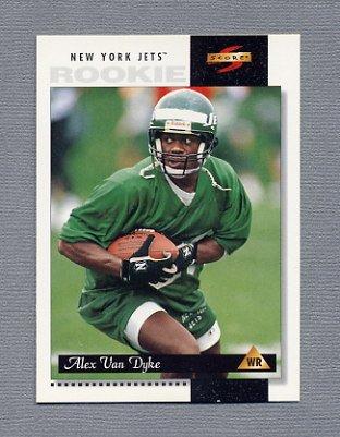 1996 Score Football #226 Alex Van Dyke RC - New York Jets