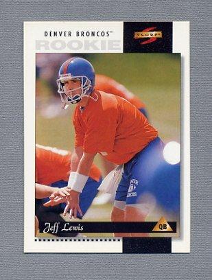 1996 Score Football #221 Jeff Lewis RC - Denver Broncos