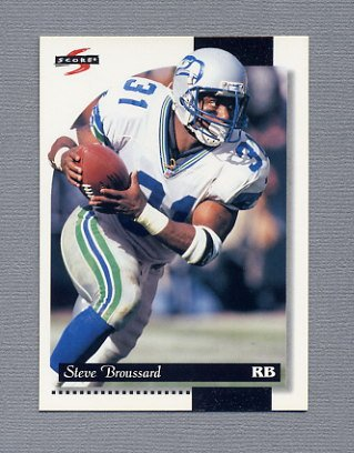 1996 Score Football #208 Steve Broussard - Seattle Seahawks