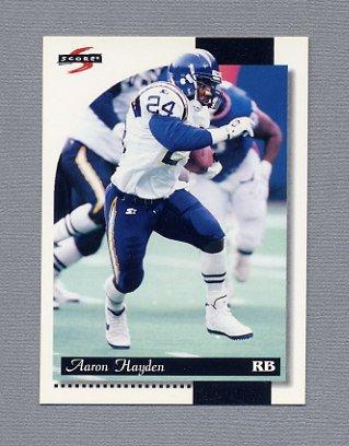 1996 Score Football #182 Aaron Hayden RC - San Diego Chargers