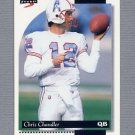 1996 Score Football #176 Chris Chandler - Houston Oilers