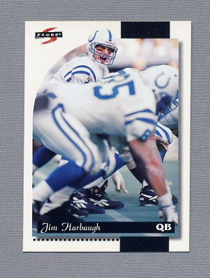 1996 Score Football #144 Jim Harbaugh - Indianapolis Colts