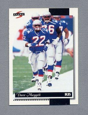 1996 Score Football #141 Dave Meggett - New England Patriots