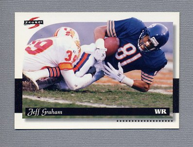1996 Score Football #124 Jeff Graham - New York Jets
