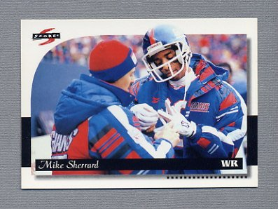 1996 Score Football #120 Mike Sherrard - New York Giants