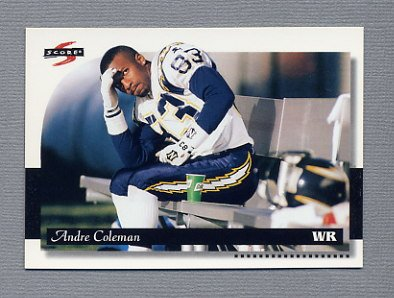 1996 Score Football #112 Andre Coleman - San Diego Chargers
