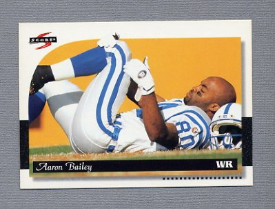 1996 Score Football #092 Aaron Bailey - Indianapolis Colts