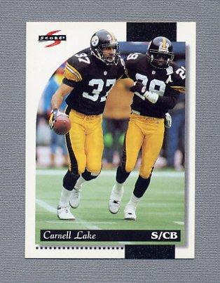 1996 Score Football #049 Carnell Lake - Pittsburgh Steelers