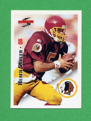 1995 Score Football #180 Heath Shuler - Washington Redskins