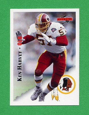 1995 Score Football #168 Ken Harvey - Washington Redskins